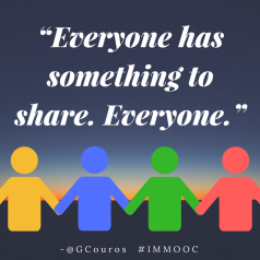 """Everyone has something to share. Everyone."""