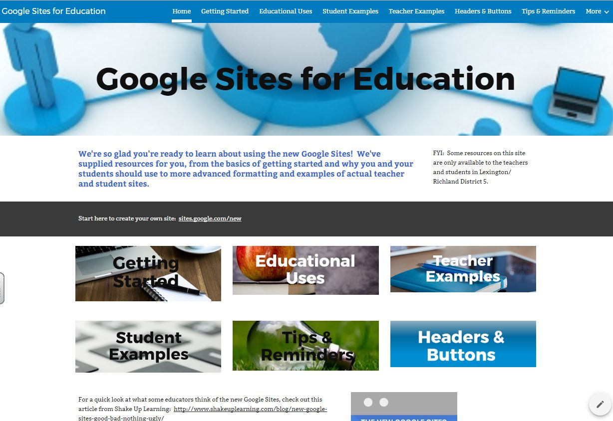 new google sites so many uses reflections of an edtech coach